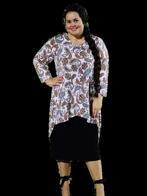 Brenda Top Tan Paisley
