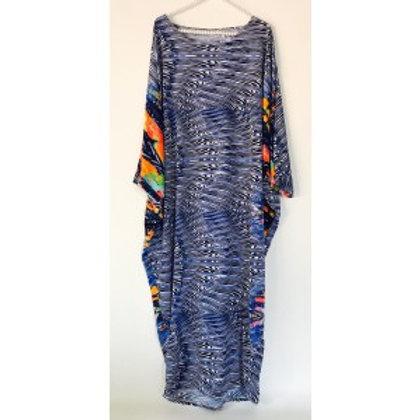 Sherri Kimono in Blue Waves of Color