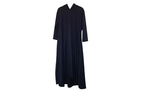 Celoa Hoodie Pocket Dress in Deep Navy Blue