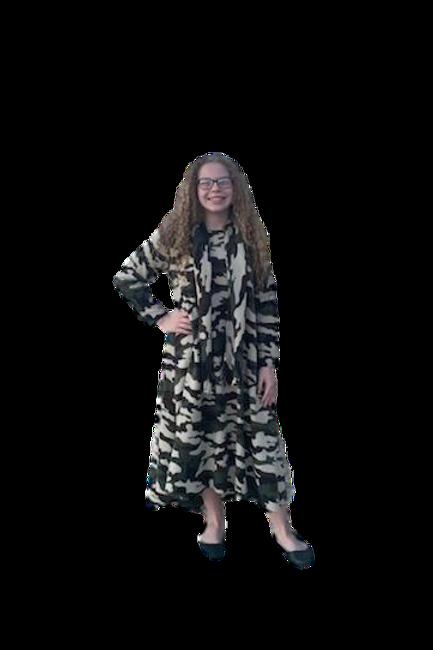 Victoria Dress W/Scarf in Camo Flannel