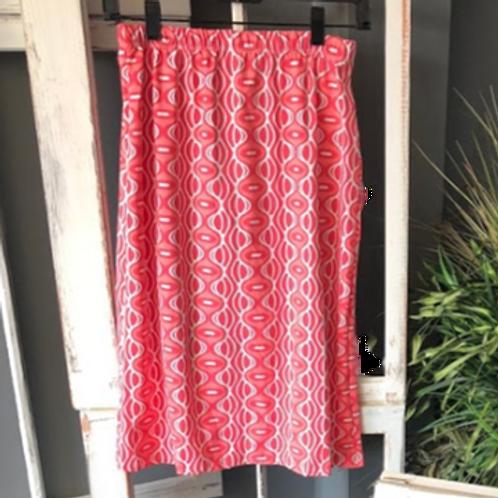 Swim/Sport Skirt in Melon n White Print
