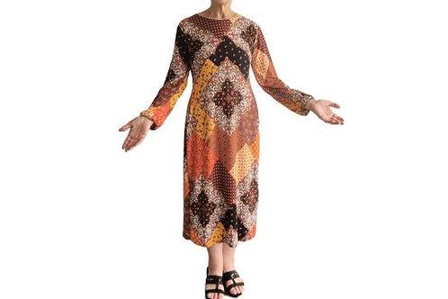 Amanda Dress in Patchwork Print