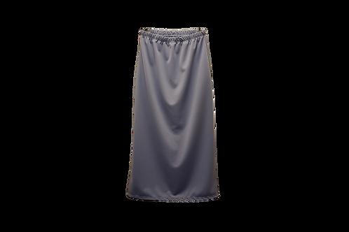 Midi Skirt in Gray Blue