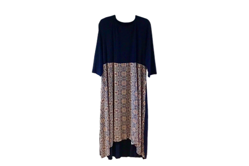 Leanna Navy w/Navy Print Front