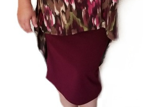 Pencil Skirt Burgundy