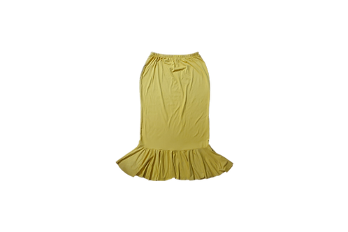 SINGLE RUFFLE SKIRT IN MICRO SOFT MUSTARD