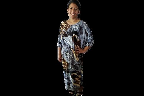 Sherri Kimono in Gray Waves