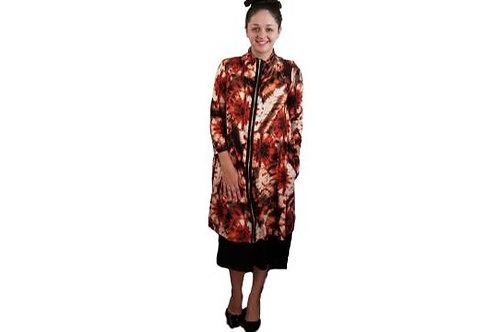 Fiona Jacket/Dress in Rust Tie Dye