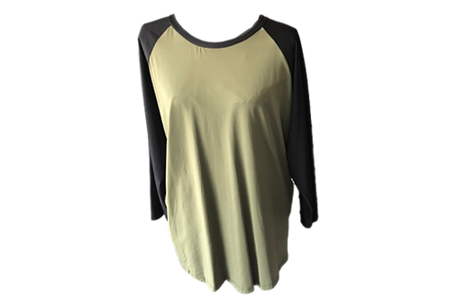 CANDY TOP KHAKI GREEN N BLACK