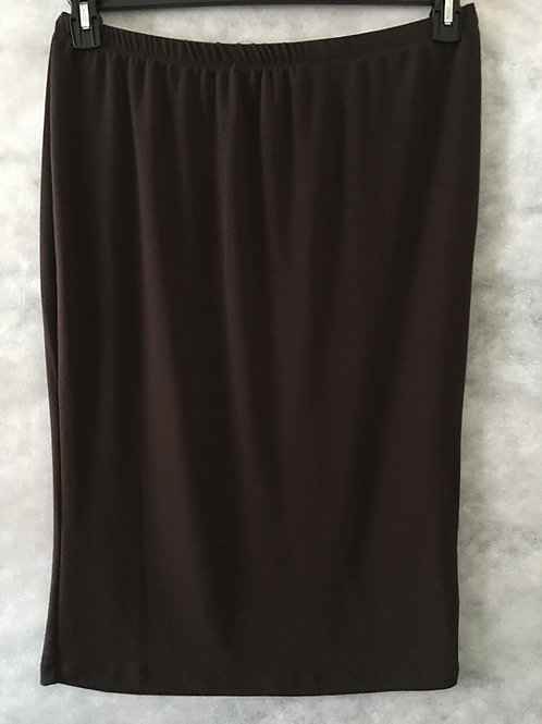 Pencil Skirt Dark Brown