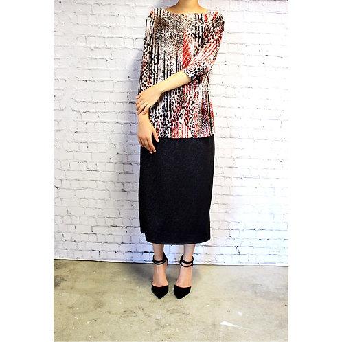 Pencil Skirt in Ribbed BLACK