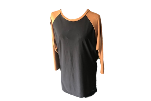 Candy Top Black with Camel Contrast