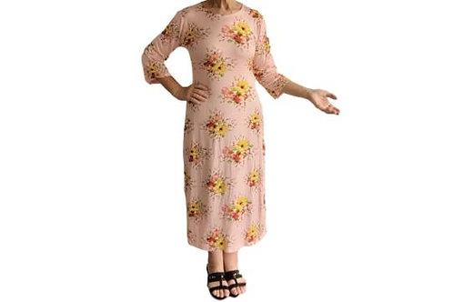Amanda Dress in Soft Pink Floral