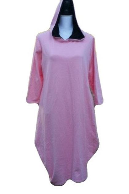 Celona Hoodie Pocket Dress in PINK
