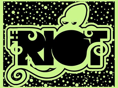 The Riot Sticker (Glow-in-the-Dark)