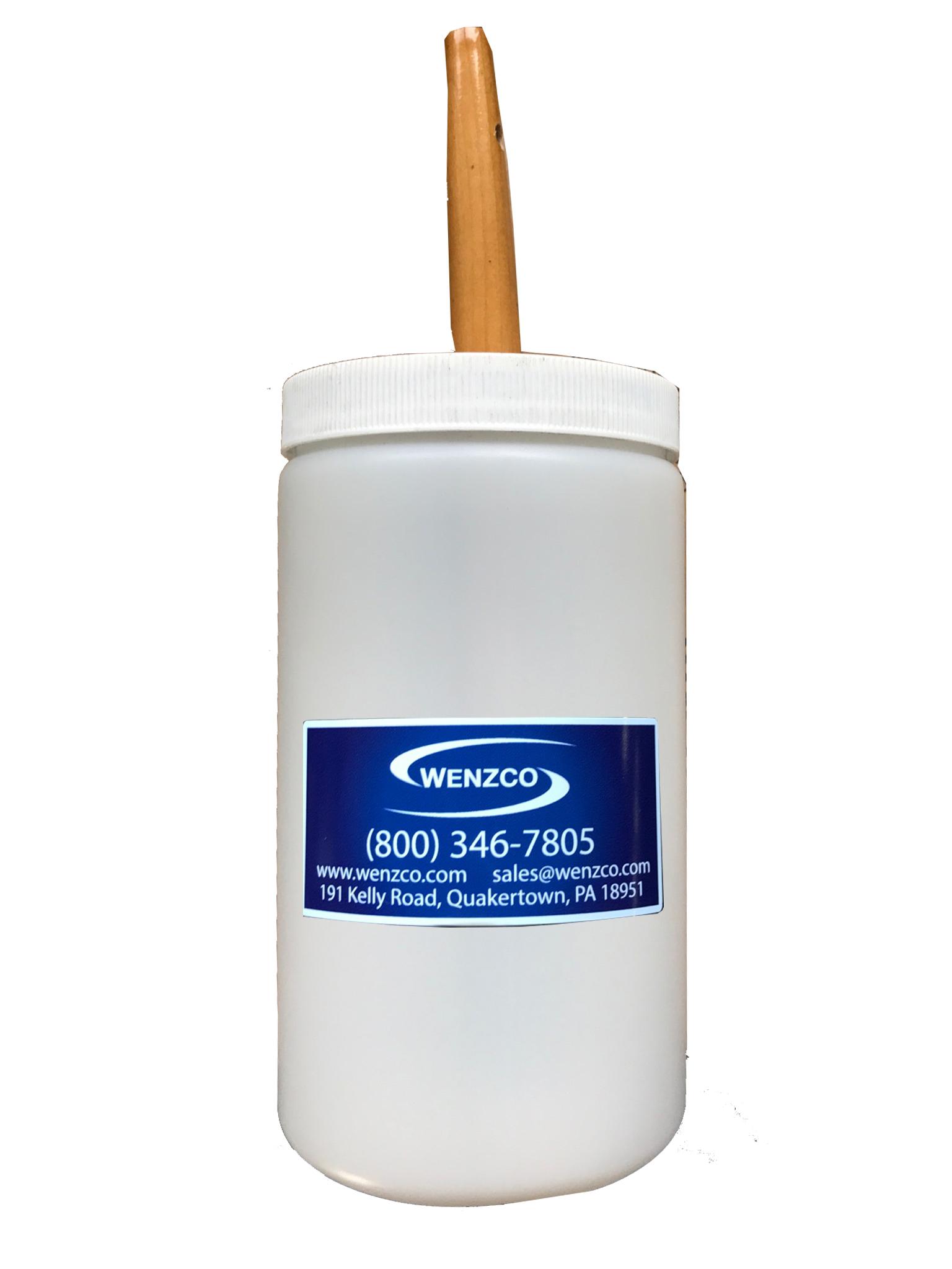 Plastic Filler Jar & Brush