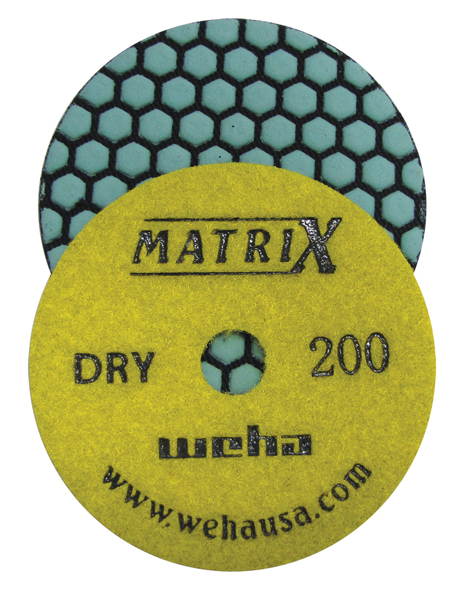 Matrix 7 Step Dry Diamond Pol Pad 200 Grit