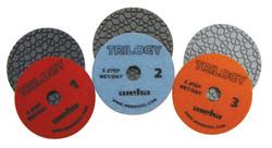 Trilogy 3 Step Diamond Polishing Pads Group