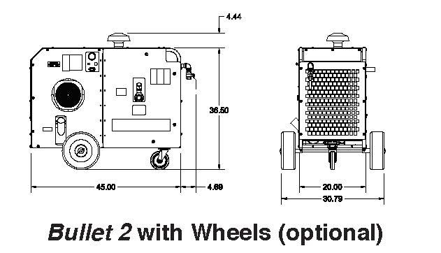 Boss Bullet 2 - with wheels