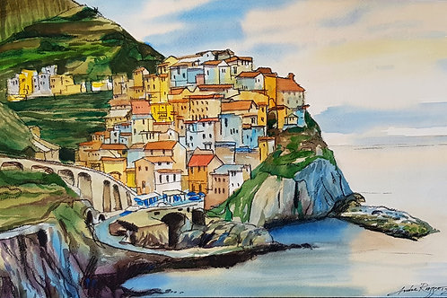 Town on the Sea Cliff