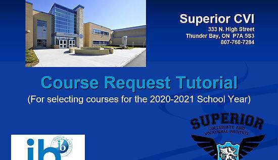 Course Request Tutorial Video