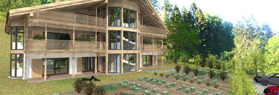 chalet de plusieurs éco-logements