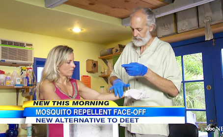 ABC's Good Morning America comes to Carroll-Loye for a Mosquito Repellent Face-Off