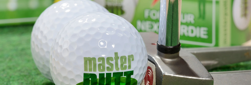 masterPUTT Trainigsset Golfbälle mit Putter und Verpackung mit Anleitung