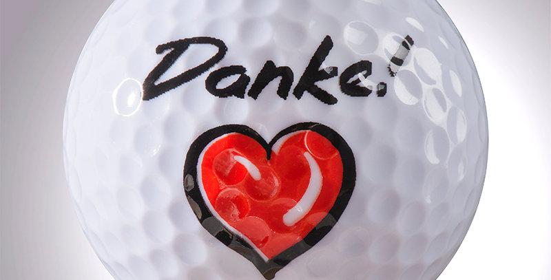 Danke + Herz magball (Deko)