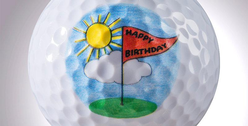 "Happy Birthday ""Fahne"" magball (Deko)"