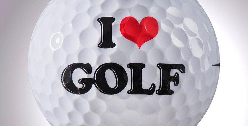 I ❤ Golf magball (Deko)