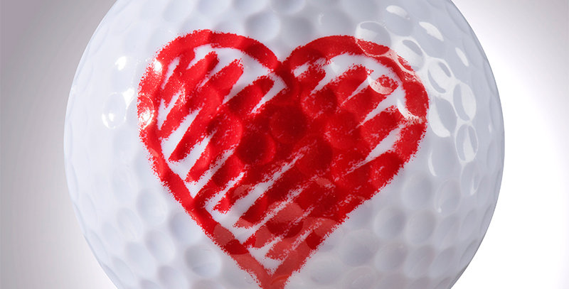 Herz magball (Deko)