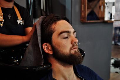 Head massage at Barber Club