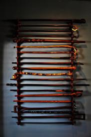 Barber Club Decor, 4 generations of walking sticks