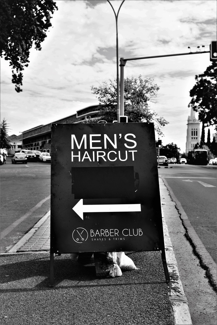 Old Barber Club Sign