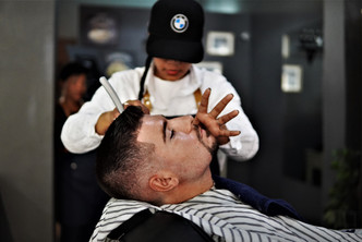 Cut throat shave  at Barber Club