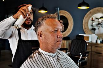 Pensioners Cut at Barber Club