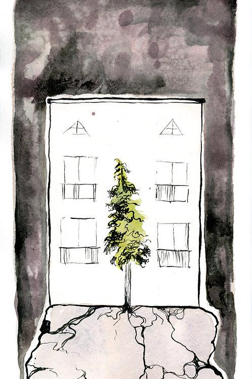 "LONELY BOY // art print / 6.5x10.75"""