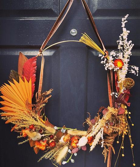 Modern Autumn Wreath