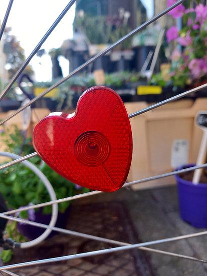 Blinking Heart Reflectors