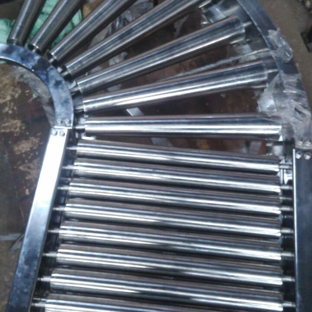 Curve Conveyor with taper Rollers