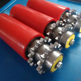 PU Coated Sprocket Driven Conveyor Rolle