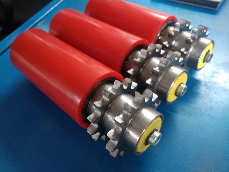 PU Coated Sprocket Driven Conveyor Rolle