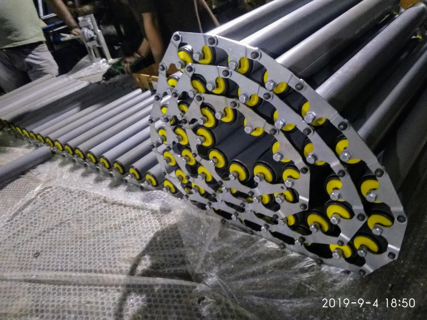 Foldable Floor Gravity Roller Conveyor