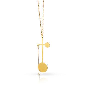 Art Deco Cross Necklace