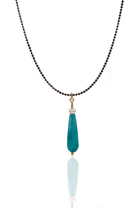 Jade Amazonite Drop Necklace