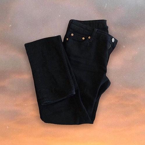 "ACNE STUDIOS Mid-Rise Black Denim Jeans (28"")"