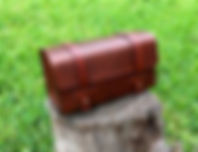 Leather Dopp Kit - Toiletry Bag,