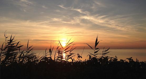 En solnedgang inviterer til at være til stede