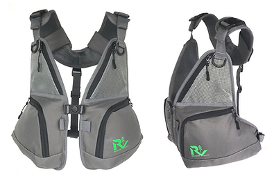 Front chest pack by Revamp Gear front pack for backpack, hydration packs and frame packs. RIBZ front pack